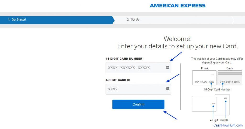 Americanexpress.com/Confirmcard