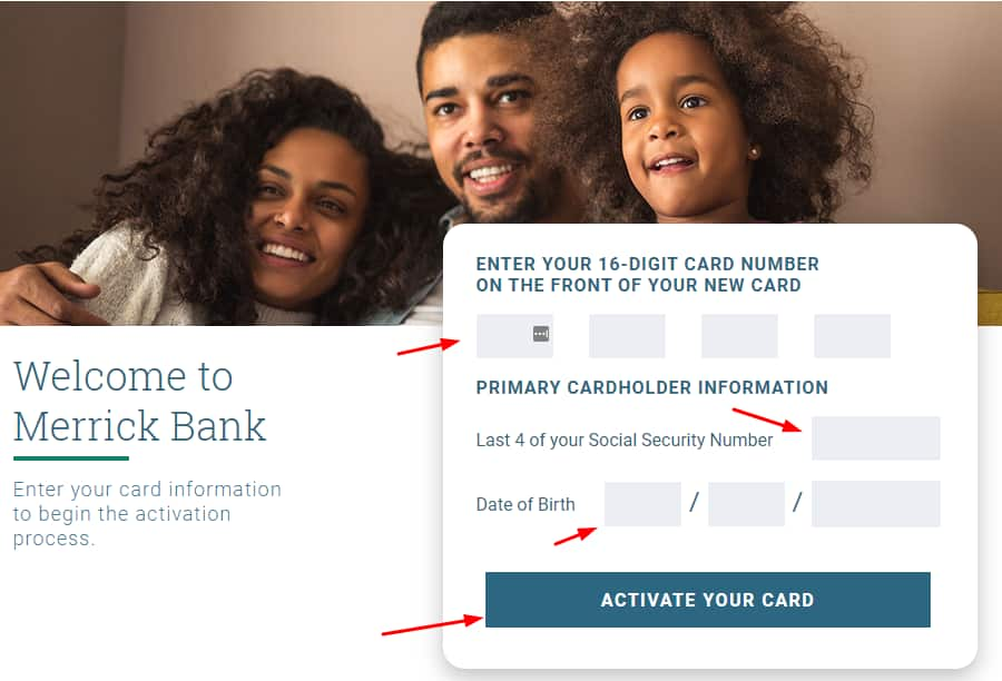 Activate Merrickbank Credit Card